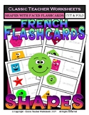 FRENCH - Shapes Flashcards - Shapes with Faces - Cut & Fold Flashcards
