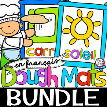 FRENCH Shapes & Fun Stuff Dough Mats BUNDLE