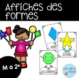 FRENCH Shapes posters/ Affiches des formes