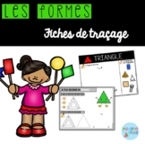 FRENCH Shapes tracing mats/ Les formes à tracer