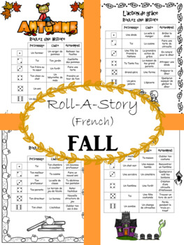 FRENCH Roll-A-Story FALL (Short Story Writing)