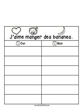 Freebie: Foods I Like Vol 1 - Surveys (French)