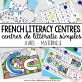 FRENCH Simple Literacy Centres - Centres de littératie (Av