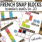 FRENCH Snap Block Counting Mats (centre de mathématiques maternelle) - Colour