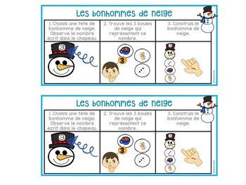 FRENCH Snowman123 Center/ Atelier 123(Bonhommes de neige)