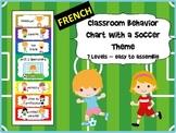 FRENCH - Soccer Themed Behavior Chart