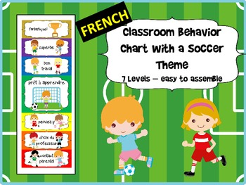 FRENCH - Soccer Themed Behavior Chart