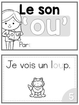 FRENCH Sound Blend Emergent Reader: Le son 'OU'