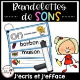 FRENCH Sounds Write & Wipe Strips/ Bandelettes de sons - J'écris et j'efface