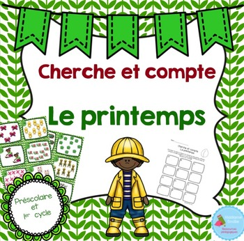 FRENCH Spring Count the room/ Cherche et compte (Printemps)