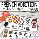 FRENCH Spring Math Centre - Centres de mathématiques (printemps) - Addition