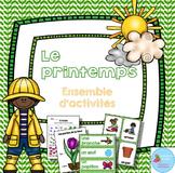 FRENCH {Spring}Math and literacy Pack/ Printemps{littératie et numératie}