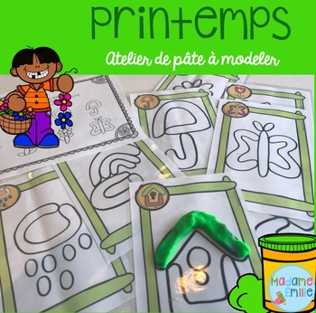 FRENCH Spring Playdough mats/ Printemps (pâte à modeler)