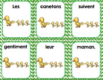 FRENCH {Spring} scrambled sentences/Phrases en désordre {Printemps}