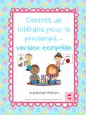 FRENCH Spring themed literacy centres - centres de littéra