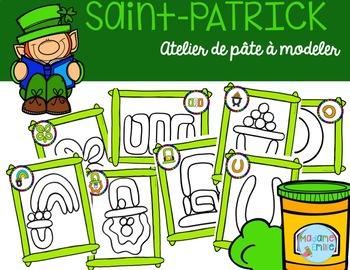 FRENCH St Patrick's day Playdough mats/ St-Patrick à modeler