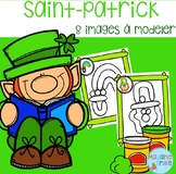 FRENCH St Patrick's day Playdough mats/ St-Patrick à modeler