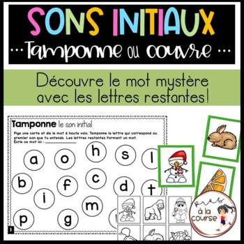FRENCH Stamp or Cover Beginning Sounds/Tamponne ou Couvre-Sons initiaux A à Z
