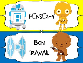 FRENCH - Star Wars themed Behavior Chart