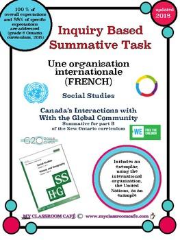 (FRENCH) Summative Task Social Studies Canada's Interactio