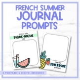 FRENCH Summer Journal Prompts for Google Classroom™ - L'été - Distance Learning