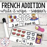 FRENCH Summer Math Centre - Centres de mathématiques (été) - Addition