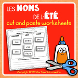 Été FRENCH Summer Nouns Cut and Paste Worksheets