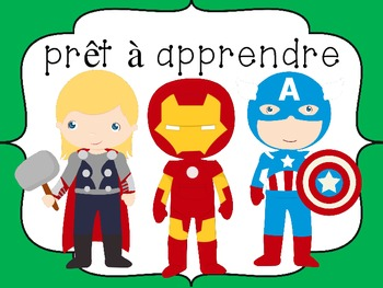 FRENCH - Superhero Themed Behavior Chart