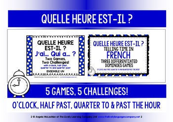 FRENCH TELLING TIME (1) - FIVE GAMES & CHALLENGES