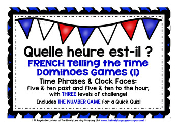 FRENCH TELLING THE TIME DOMINOES GAMES (1)