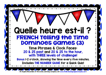 FRENCH TELLING THE TIME DOMINOES GAMES (3)
