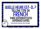 FRENCH TELLING TIME 3 DIFFERENTIATED DOMINOES GAMES (2)