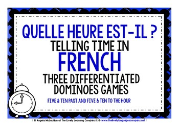 FRENCH TELLING TIME - 3 DIFFERENTIATED DOMINOES GAMES (2)