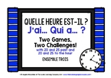 FRENCH TELLING TIME I HAVE, WHO HAS? 2 GAMES, 2 CHALLENGES! (3)