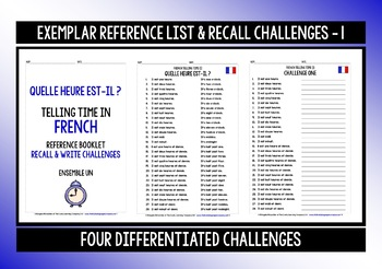 FRENCH TELLING TIME GAMES CARDS & RECALL CHALLENGES (1)