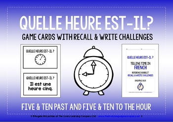 FRENCH TELLING TIME GAMES CARDS & RECALL CHALLENGES (2)