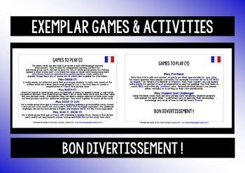 FRENCH TELLING TIME GAMES CARDS & RECALL CHALLENGES (3)