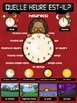 FRENCH TELLING TIME POSTER - QUELLE HEURE EST-IL?