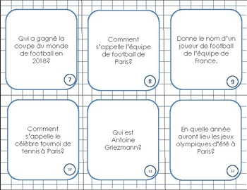 FRENCH TRIVIA - 120 questions- Ice Breaker