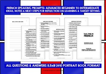 FRENCH SPEAKING PROMPTS (2) - 100 CARDS & REFERENCE BOOKLET