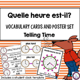 FRENCH Telling Time Vocabulary Cards and Student Clock Activity