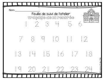 FRENCH Tracing Mats/ Atelier de motricité fine (traçage)