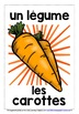 FRENCH VEGETABLES - 30 DISPLAY POSTERS / FLASHCARDS