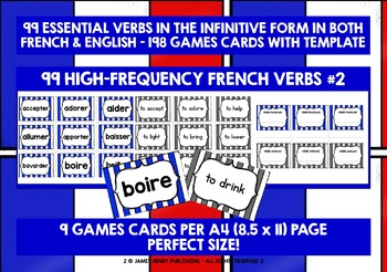 FRENCH VERBS (2) - PRACTICE & REVISION - 99 VERBS