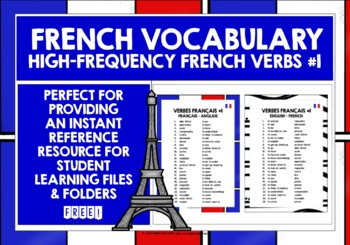 FRENCH VERBS 25 MUST-HAVE VERBS REFERENCE LIST #1