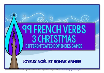 FRENCH VERBS CHRISTMAS DOMINOES GAMES (2)