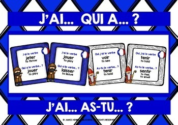 FRENCH VERBS CHRISTMAS I HAVE WHO HAS GAMES