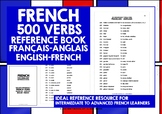 FRENCH VERBS REFERENCE FRENCH-ENGLISH & ENGLISH-FRENCH 500 VERBS