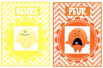 FRENCH VERSION - Emotion Posters with Pictures and Description