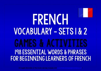 FRENCH VOCABULARY (1&2) PRACTICE & REVISION - 198 WORDS & PHRASES